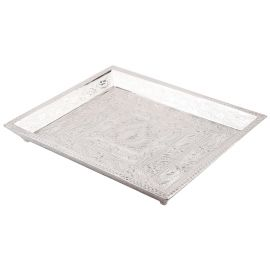 White Metal Plain Tray 4 Glass