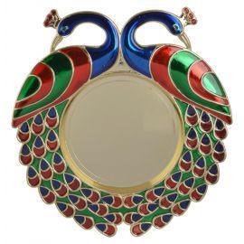 Twin Peacock Pooja Thali