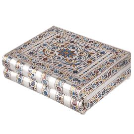 White metal jewel box