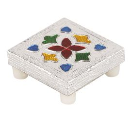 White metal pooja stand mini
