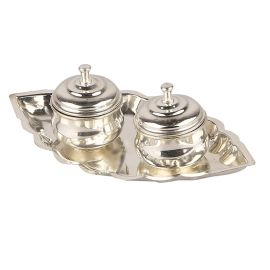 German Silver Kumkum with lid small