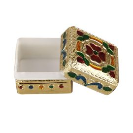 Mina kumkum box goldish(12pc set)