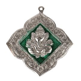 Ganesh Hanging Floral Green medium