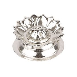 Silver Plated Floral Agarbathi stand