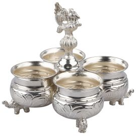 Silver Plated Kumkum holder special 4