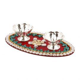 Acrylic kumkum decorative plate