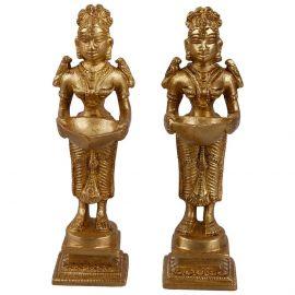 Brass Deepa Lakshmi Antique Finish