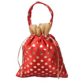 Dotted Bag With Handle Red