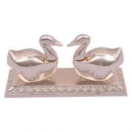 Swan Kumkum Box silver