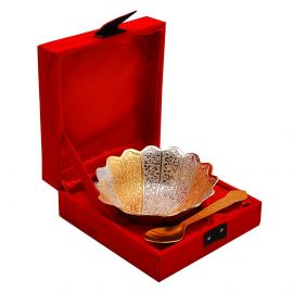 Silver And Gold Plated Bowl- Trio