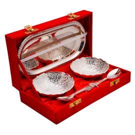 Silver Plated Twin Bowlset - Mayur