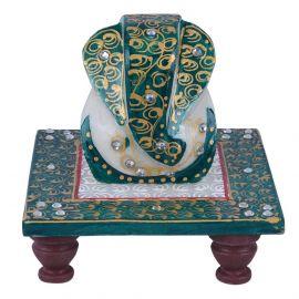 Marble Choki Ganesh Green