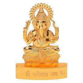 Gold Finish Ganesh Murthi Medium