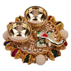 Multi color Bead Ring Base kumkum set