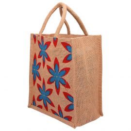 Jute Bag 10x11-Floral