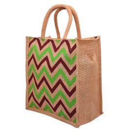 Jute Bag 10x11-Stripe waves