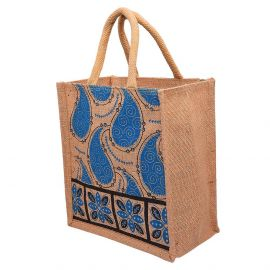 Jute Bag 10x11- Mango Border