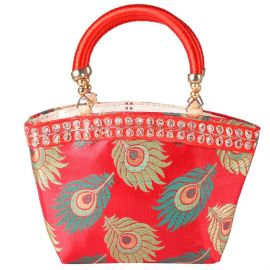 Peacock Feather Bag Small