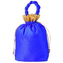 Potli Bag- Recatangular Base Blue