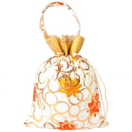 String Bag-Golden white with handle