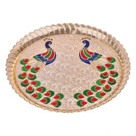 Mayur Thali Round Medium