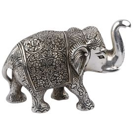 White metal Elephant Pair Small