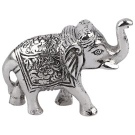 Whitemetal elephant statue pair mini