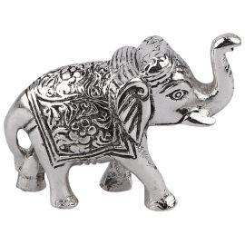 Whitemetal elephant statue pair mini