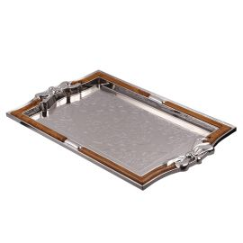 Euro Fibre Metal Plated Tray Medium