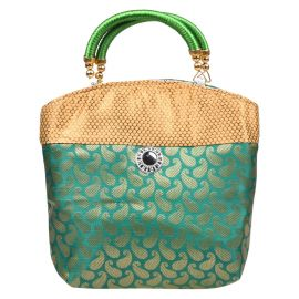 Fancy Bag with Mango Butti  Assorted