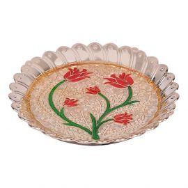 Round Floral Thali Mini
