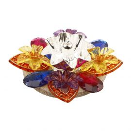 Floating floral diya