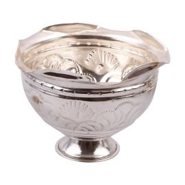 German Silver Flower Bowl Medium