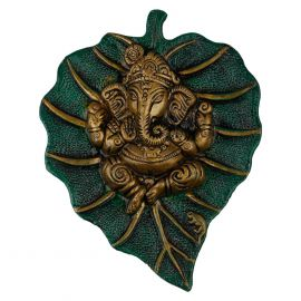 Ganesh Leaf Wall Hanging Green