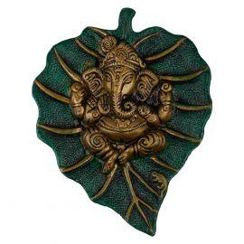 Ganesh Leaf Wall Hanging Green