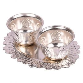 Silver plated Kumkum plate