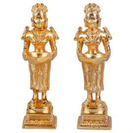 Gold Plated Brass Deep Lakshmi Pair