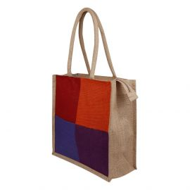Jute Bag-four colours patch