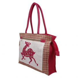 Jute Bag- Dancing deer