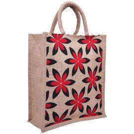 Jute Bag - Floral 12x14