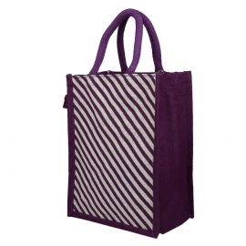 Jute Bag -Cross Stripes