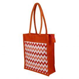 Jute Bag -Wave Stripes