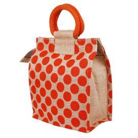 Jute Bag -  Dotted Zipper