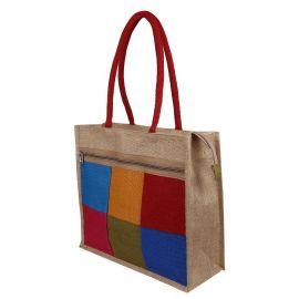 Jute Bag - Multi Hexa Colour Big
