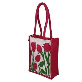 Jute Bag - Tulips Flora
