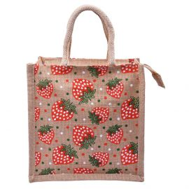 Jute Bag - Strawberry 10x11
