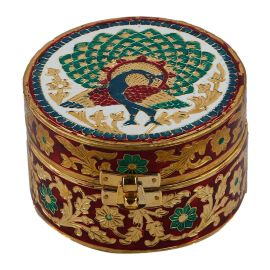 Minakari Round Box Medium