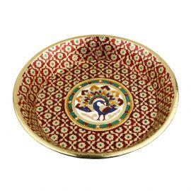 Minakari plate parath small