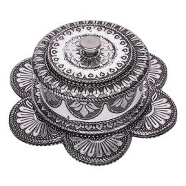 Floral Oxidised Trinket Box