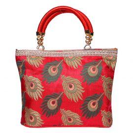 Peacock Feather Design Bag Medium
